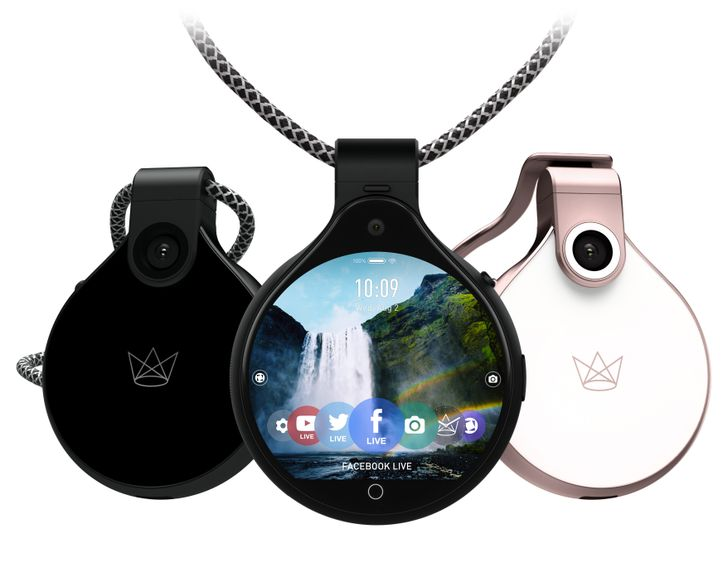 FrontRow is a $400 livestream-capable wearable with two cameras and a circular touchscreen
