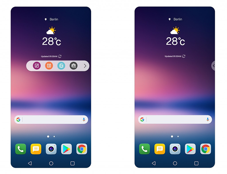 LG teases floating action bar, always-on improvements, and new unlock features for the V30