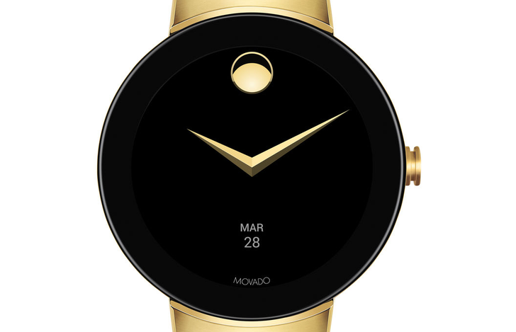 Movado Connect, the latest high-fashion entrant into the world of Android Wear, available for $595