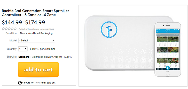 [Deal Alert] 8 and 16 zone Rachio 2nd generation smart sprinkler controllers on Woot for $145 and $175 ($55/$85 off)