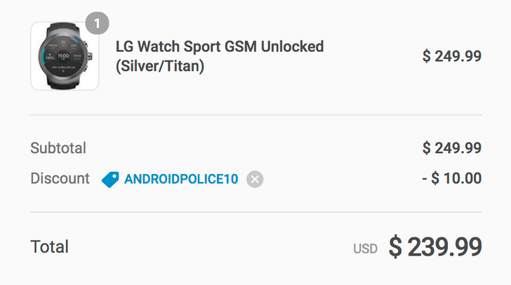 [Deal Alert] LG Watch Sport is just $239.99 ($110 off) at Daily Steals with coupon code