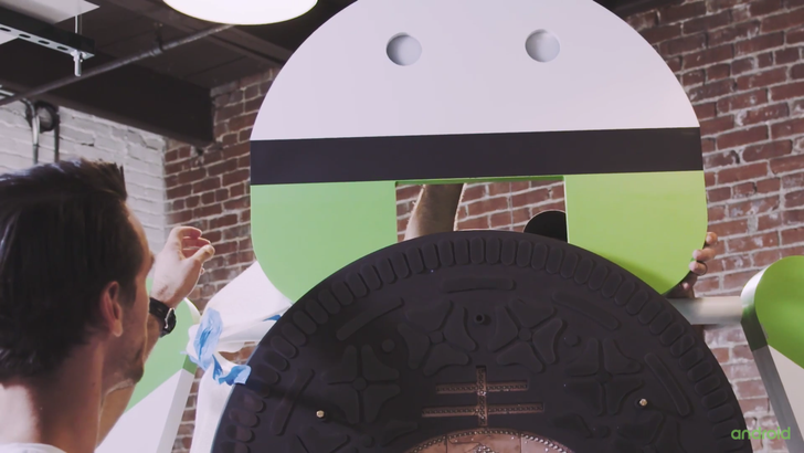 Google's Android Oreo statue behind-the-scenes video shows its creation and unveiling