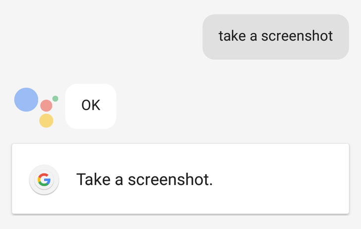 Assistant voice command lets you take a screenshot and instantly gets it ready for sharing