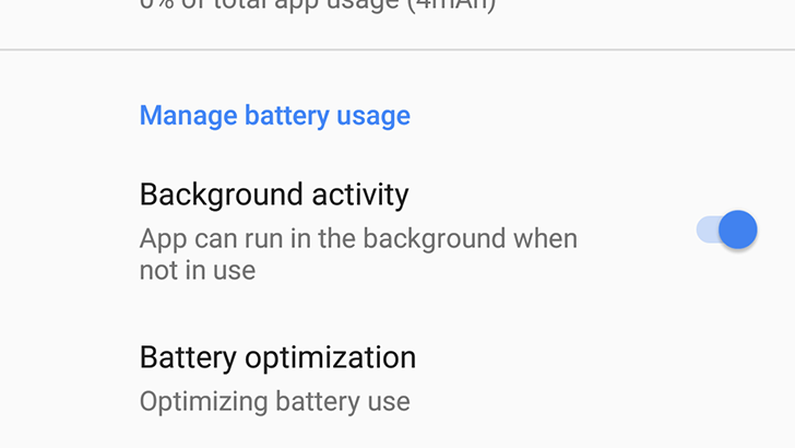 Image result for background limits android o