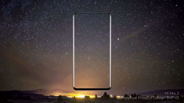 Xiaomi Mi Mix 2's minimal bezels blend with the night sky in video released by designer Philippe Starck