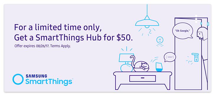 [Deal Alert] Samsung SmartThings Hub v2 is down 50% to $49.99