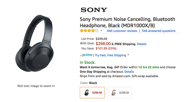 [Deal Alert] Sony MDR1000X noise canceling Bluetooth headphones down to $298 ($102 off)