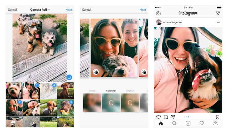 Instagram now allows multiple photos/videos posts to be in aspect ratios other than 1:1, adds minor design tweaks