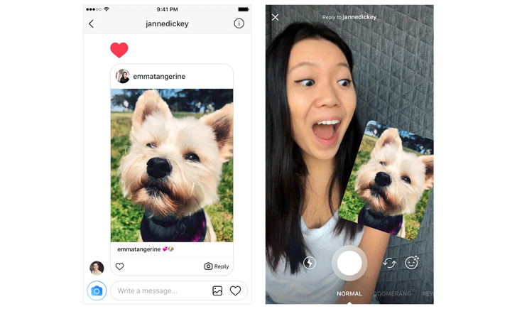 Instagram introduces new ways to reply to direct messages with photos and videos