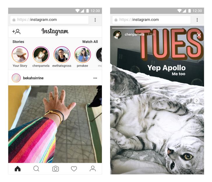 Instagram brings Stories to the mobile website