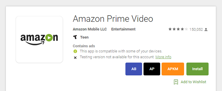 Amazon Prime Video returns to the US Play Store