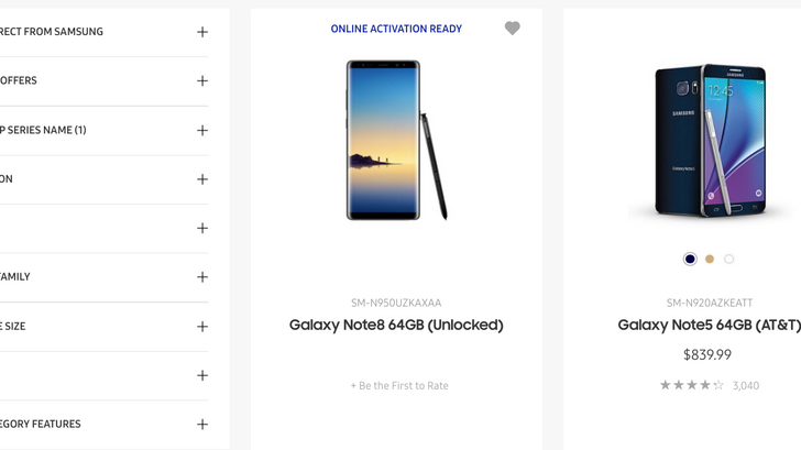 [Update: It's gone] Samsung presumably gives up on keeping Note8 a secret, lists the phone on its online store