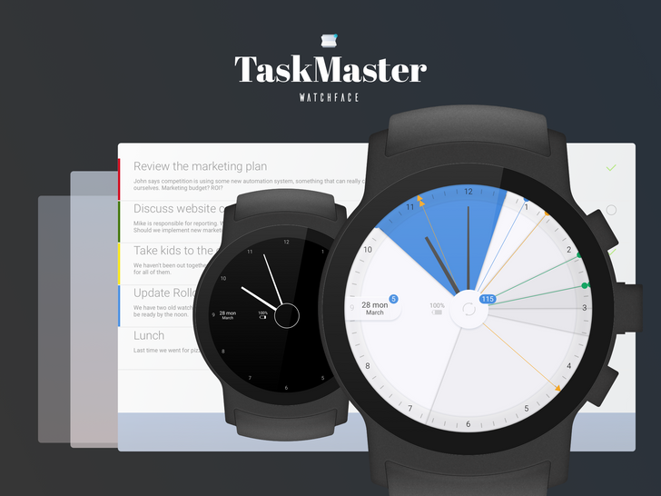 The Task Master watch face puts your calendar front and center