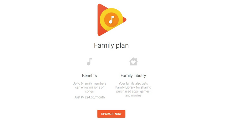 Google Play Music family plan and Google Play family library come to 9 more countries