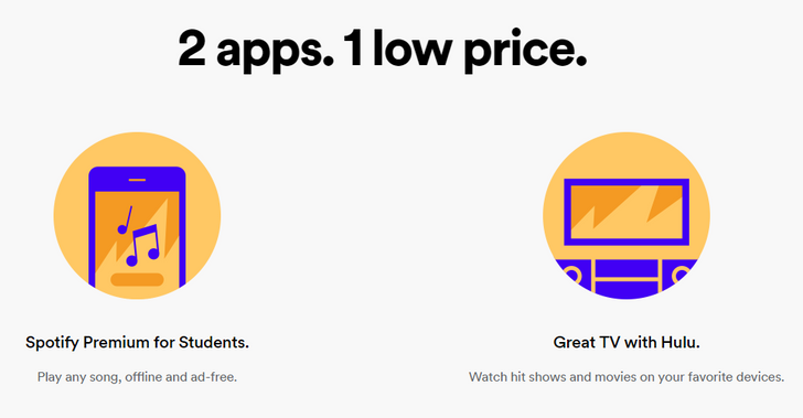US college students can now get Spotify and Hulu for $4.99 per month