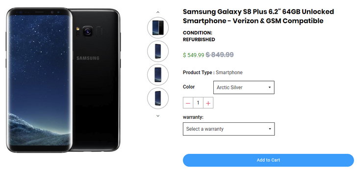 [Deal Alert] Refurbished Samsung Galaxy S8 Plus on sale for $499.99