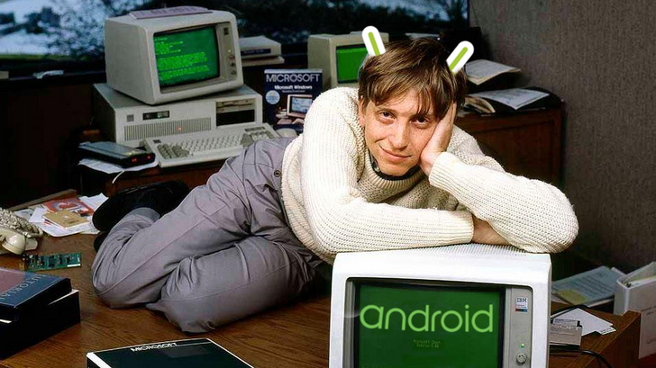 Android has become so ubiquitous even Bill Gates uses it