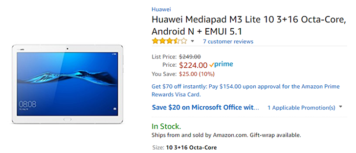 [Deal Alert] Huawei's new T3/M3 Lite Android tablets are already $15-30 off on Amazon and Newegg