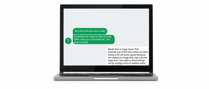 [Who needs iMessage?] Someday you may be able to send and receive SMS using your Chromebook