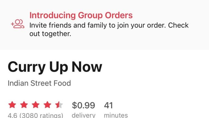 DoorDash, the food delivery service, adds group orders to its Android app
