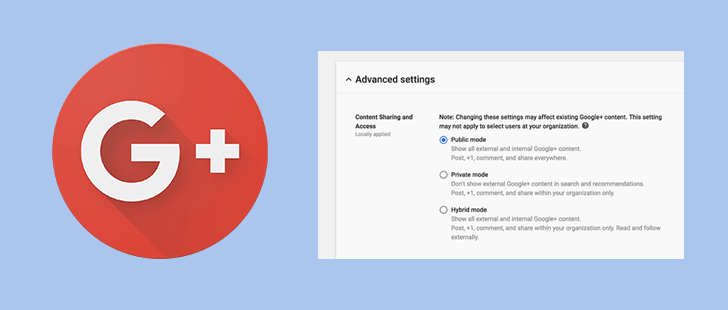 Google+ has new content restriction modes for G Suite admins