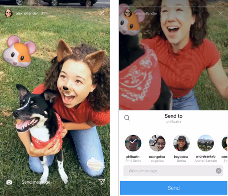Instagram adds the ability to share stories with friends via Direct