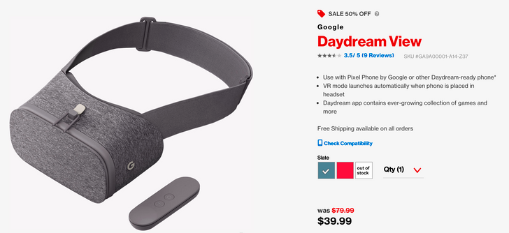[Update: Sold out] Deal Alert: Google's Daydream View VR headset is just $39.99 (50% off) at Verizon