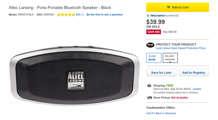 [Deal Alert] Altec Lansing Porta Bluetooth speaker is just $39.99 ($60 off) at Best Buy