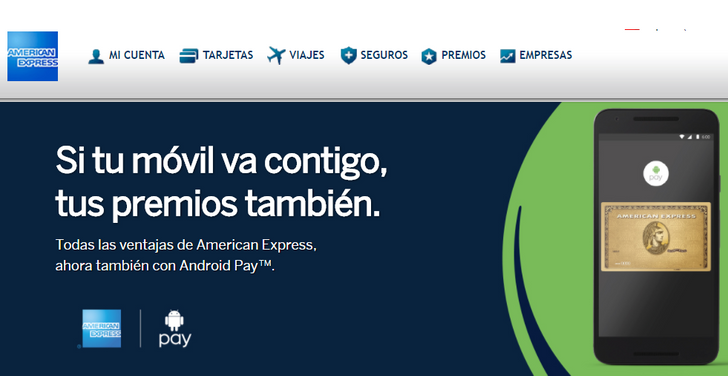 Android Pay in Spain adds support for American Express and one Edenred card