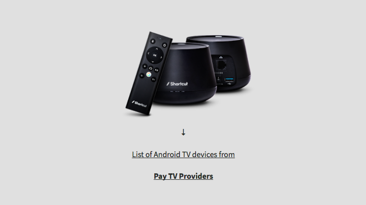 This is a list of existing and upcoming Android TV cable provider boxes