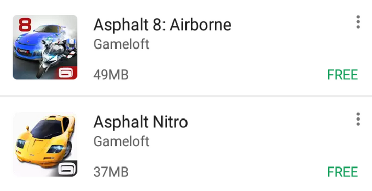 [Update: Likely region-specific] Latest Play Store test replaces star ratings with app sizes in results