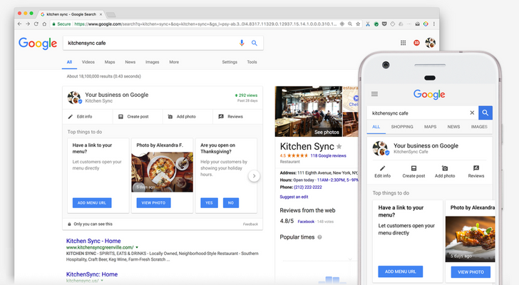 Business owners can now manage their listings via a dashboard right in Google Search