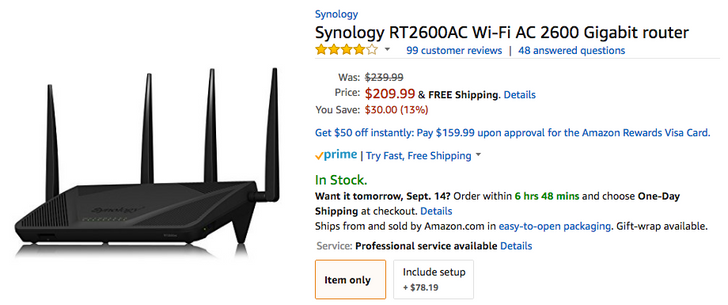[Deal Alert] Synology RT1900ac and RT2600ac routers down roughly $30 at several retailers