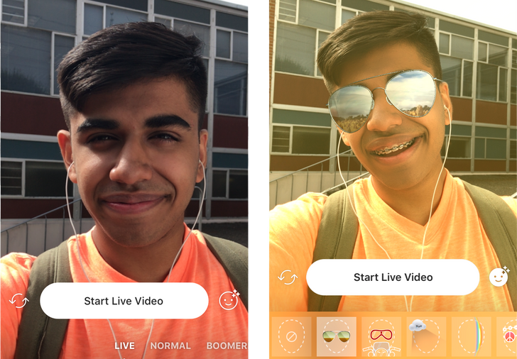 Instagram is adding Face Filters to live broadcasts soon