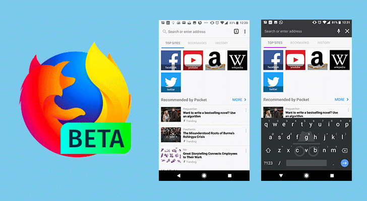 Firefox 57 beta arrives with new UI, revamped new tab page, and incognito keyboard support [APK Download]