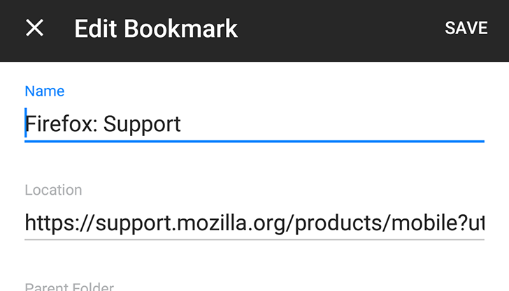 %name Firefox 57 getting the updates, the bookmark feature is improved in performance
