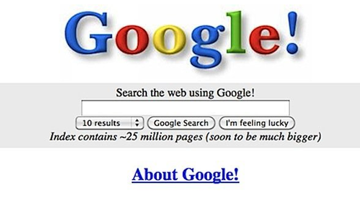 Google.com was registered 20 years ago today