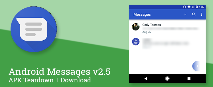 Android Messages v2.5 removes the FAB for new conversations, prepares to launch video calls, read QR codes, and exchange money [APK Teardown]