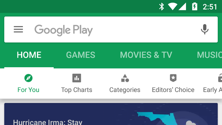 [Update: Rolling out] Google testing another Play Store redesign, this time with a new tab bar