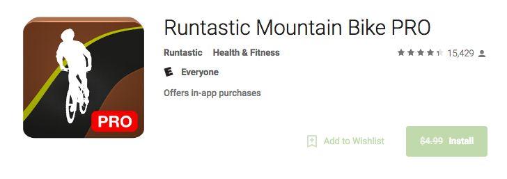 [Freebie Alert] Runtastic Mountain Bike Pro down from $4.99 to $0