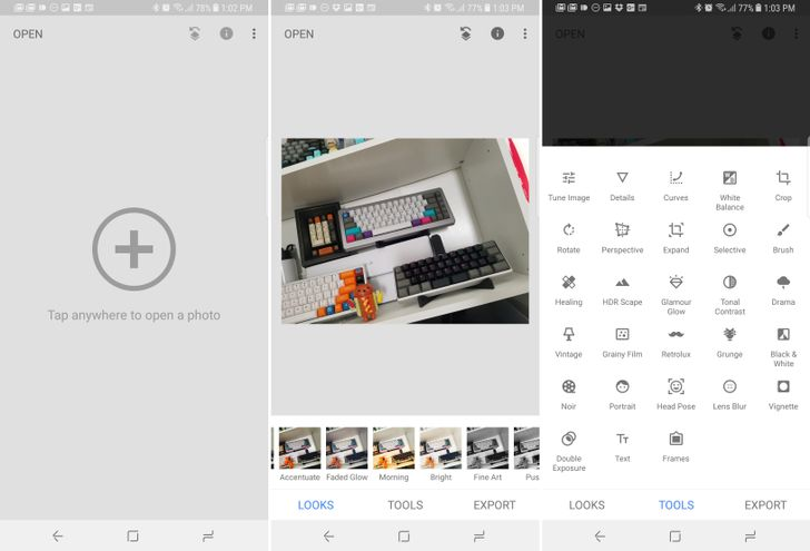 Snapseed v2.18 revamps the UI with lighter theme and bottom toolbar [APK Download]