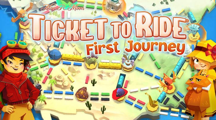 Introduce your child to the wonders of board games with Asmodee Digital's release of Ticket to Ride: First Journey