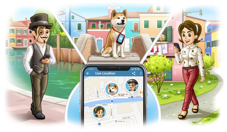 Telegram v4.4 adds live locations, a new media player, and more