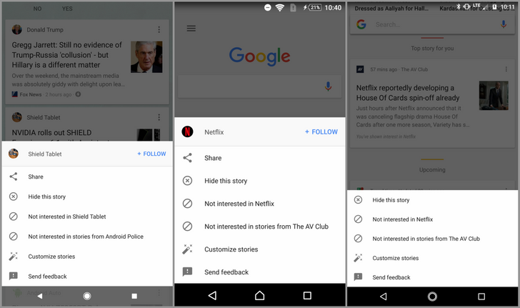 New, cleaner overflow menu design in Google app is rolling out more widely