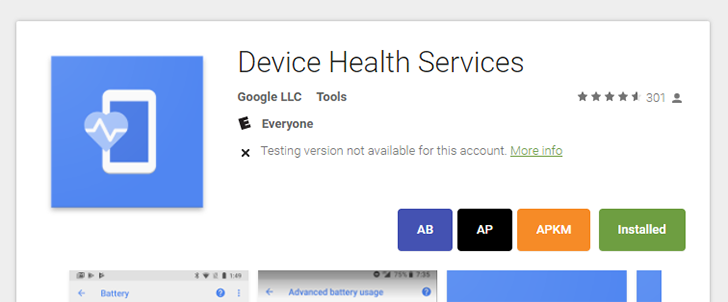 Google uploads its Device Health Services system app to the Play Store