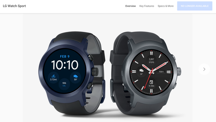 "[Update: Googler confirms Google Store now only stocks in-house hardware] Android Wear section vanishes from Google Store, with LG Watch Sport and Style now showing as ""no longer available"""