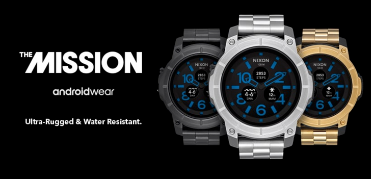 Nixon Mission now comes with stainless steel band in three colors for an extra $25/£50/€21