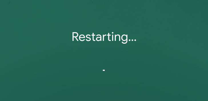 Android 8.1 feature spotlight: Power off and restart screens get a new coat of paint, and restart screen now says 'Restarting...'