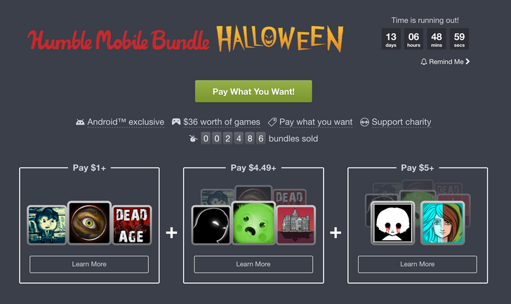Humble Bundle's Halloween selection includes 8 gruesome games