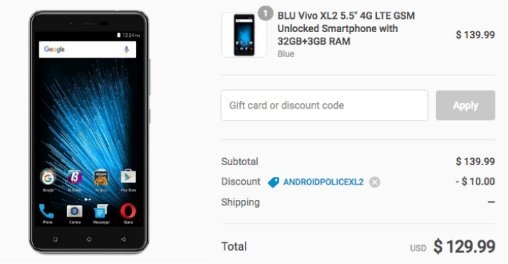 [Deal Alert] New BLU Vivo XL2 is just $129.99 at Daily Steals with our exclusive coupon code ($20 off)
